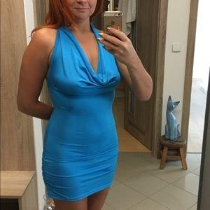 Blue Silky Material Dress Small/Medium Size